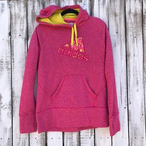 Adidas Pink kangaroo pocket with thumb holes SZ L